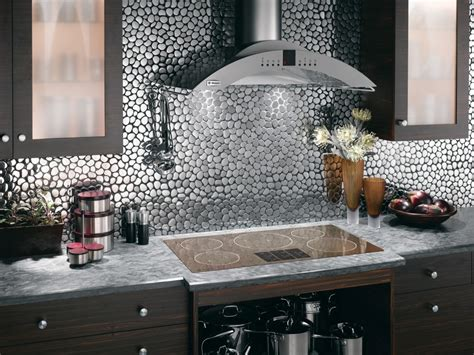 metal backsplash tiles for kitchens unique kitchen backsplash ideas modern magazin