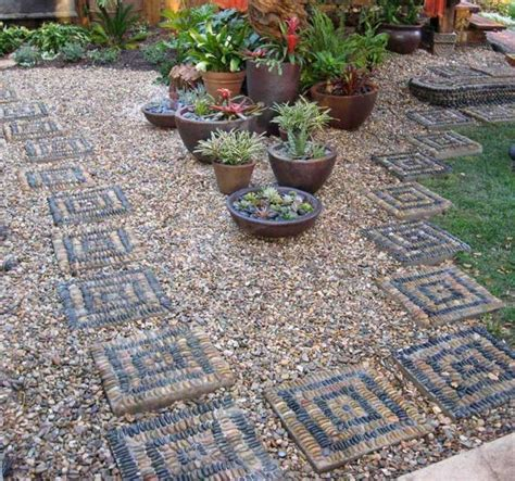 21 Cool Pebble Pathway Design Ideas For Lavishly Garden Pebble Rock Garden Designs