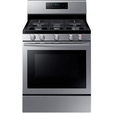 Cleaning Stainless Steel Oven Racks by Samsung 30 In 5 8 Cu Ft Gas Range With Self Cleaning