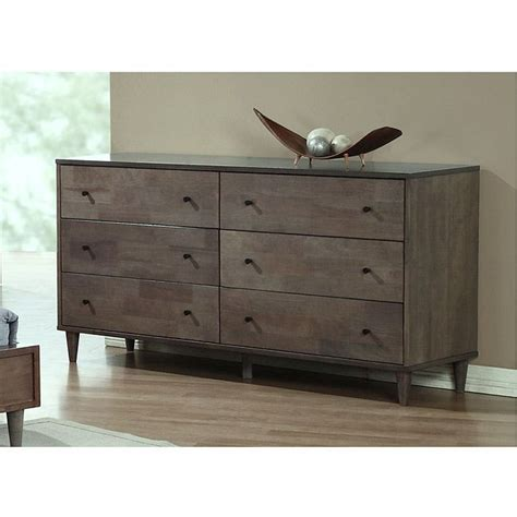 vilas bedroom furniture vilas light charcoal 6 drawer dresser by i love living