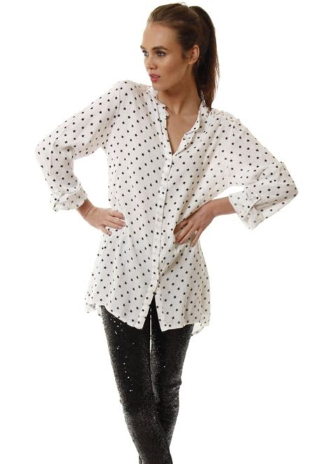 Crochet Oversized Shirt 11173 print shirt oversized shirt crochet back shirt