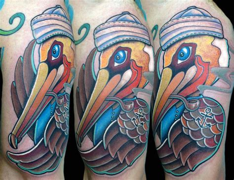 pelican tattoo pelican sailor by matt stebly tattoonow