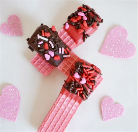 valentines treats for toddlers valentines day chocolate dipped wafer cookies
