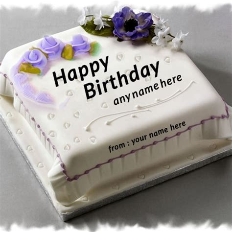 purple rose flower birthday cake  edit