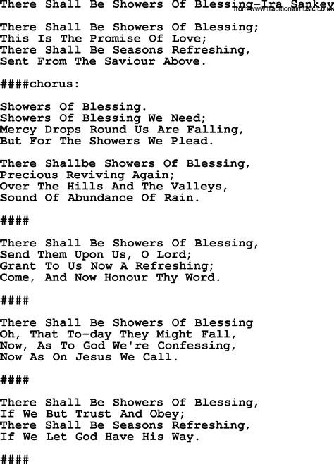 there shall be showers of blessing ira sankey txt by ira