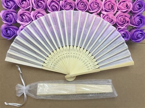 foldable fans with pouch free shipping wholesale 50pcs lot white elegant folding