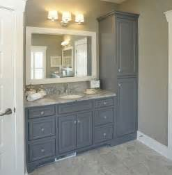 Gray Bathroom Cabinets Bathroom With No Linen Closet Vanity With Linen Cabinet For Remodel Of The Bathroom Some Day