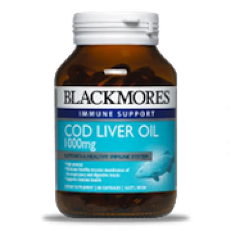Cod Liver Detox by Blackmores Cod Liver 1000mg Capx80 Pharmacy 4 Less
