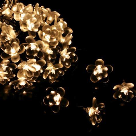 Midnight Flower Outdoor Fairy Lights Mains Operated Flower Lights Uk