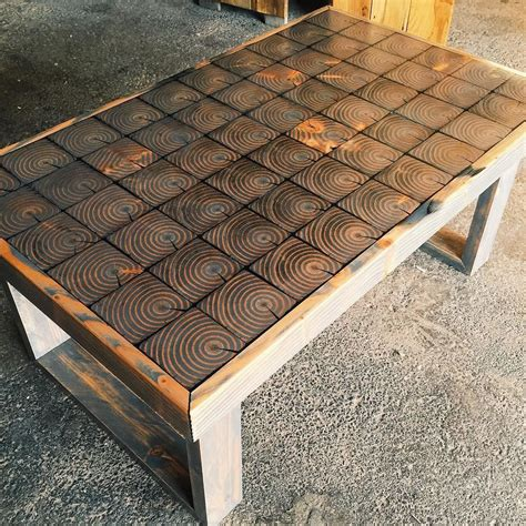 wood coffee table and end tables end grain coffee table diy furniture