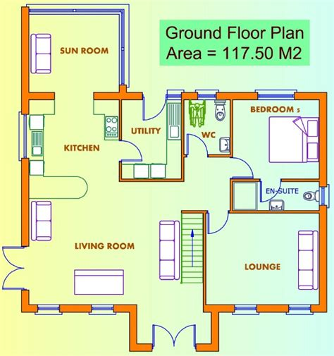 ground floor and floor plan ground floor floor home plan house design ideas