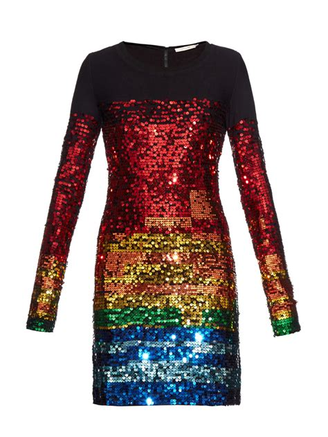 multi color sequin dress lyst preen line sequin dress