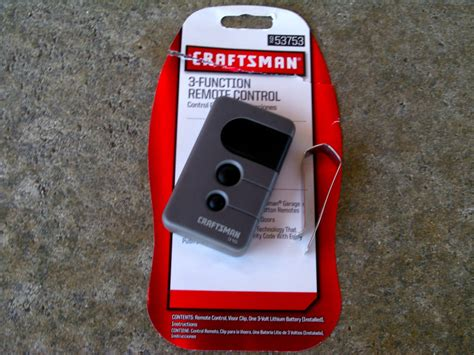 Craftsman Garage Door Opener 139 53753 by Craftsman Sears Remote 139 53753 Garage Door Opener
