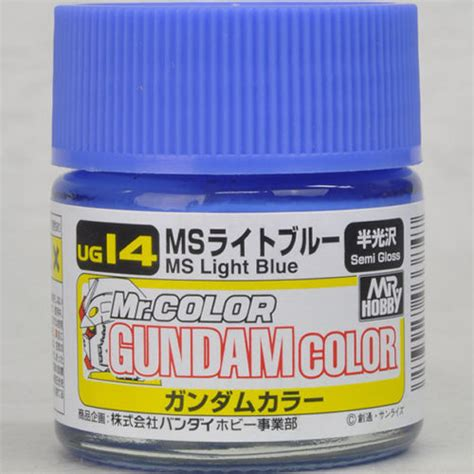 Mr Color C20 Light Blue Semi Gloss Lacquer Paint gsi creos mr hobby mr gundam color ug14 ms light blue