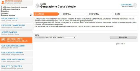banco di sardegna on line saldo carta di credito virtuale cos 232 a cosa serve e come