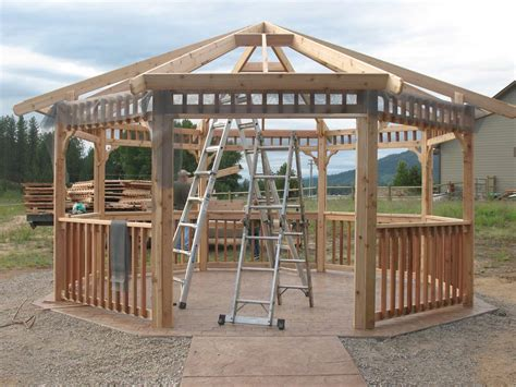 wood gazebo kit the best screened gazebo kits pergola design ideas
