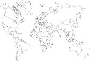 World Map Template by Blank Map World