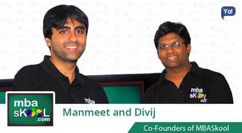 Mba Before School by Exclusive With Manmeet Divij Co Founders Of