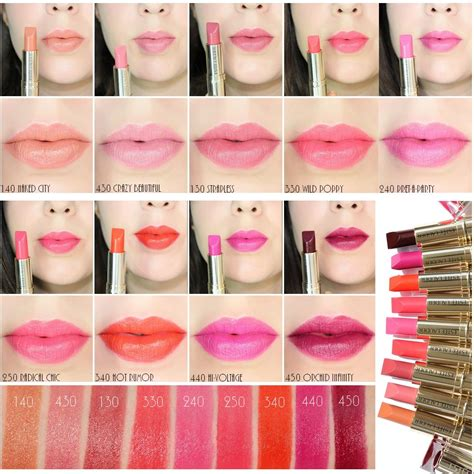 estee lauder color lipstick est 233 e lauder color lipsticks swatches of the