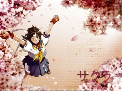 Street Fighter Sakura Wallpapers