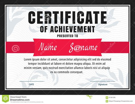 Memo Template Vector certificate template diploma letter size vector stock