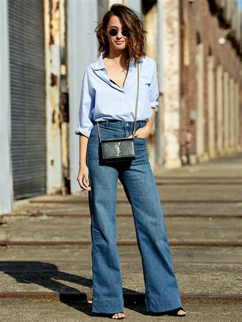 how to wear flare pants flare pants are in style how to wear the flared jeans trend glam radar