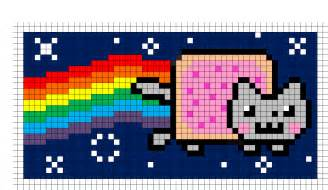 minecraft pixel templates easy nyan cat minecraft pixel template minecraft pixel