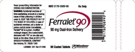 Prescription Iron Supplements With Stool Softener by Ferralet 90 Fda Prescribing Information Side Effects
