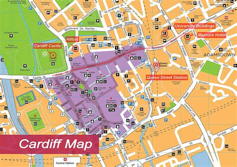 maps for large cardiff maps for free and print high resolution and detailed maps