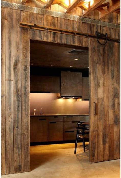 Barn Door Style Kitchen Cabinets Gramercy Penthouse New York