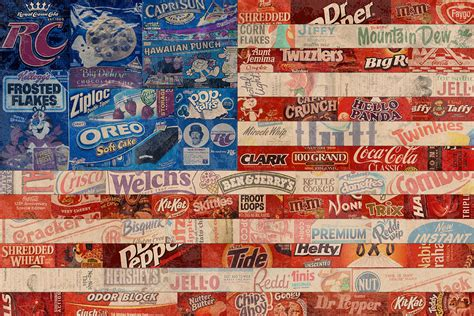 american flag made from vintage recycled pop culture usa