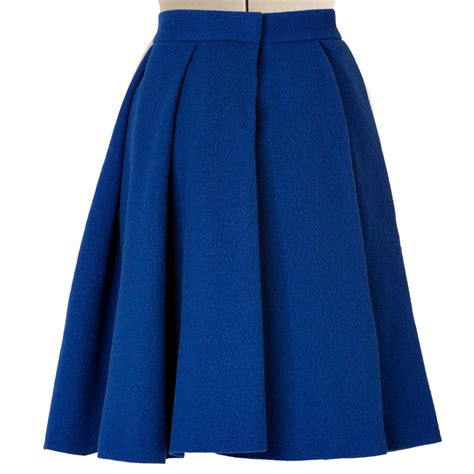 royal blue pleated skirt product tags elizabeth s