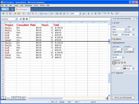 Lotus Spreadsheet by Taking A Look At Ibm Lotus Symphony Spreadsheets