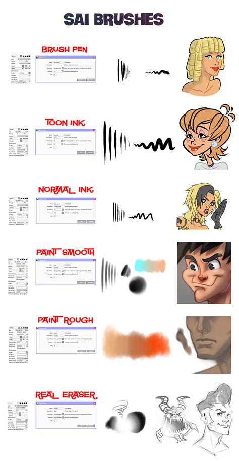 paint tool sai worth buying sai brushes by docsinistar on deviantart