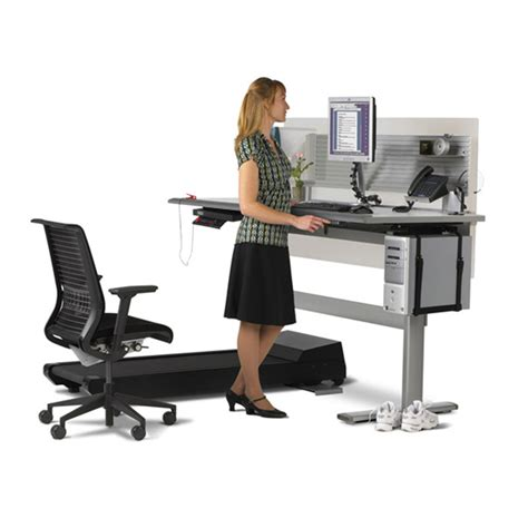 Standing And Sitting Desk Sit To Walkstation Treadmill Desk Sit Stand Or Walk The Green