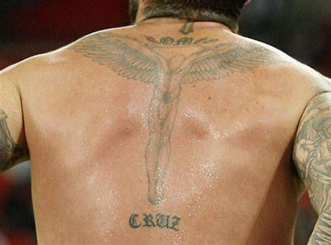 david beckham cross tattoo david beckham s 40 tattoos their meanings guru