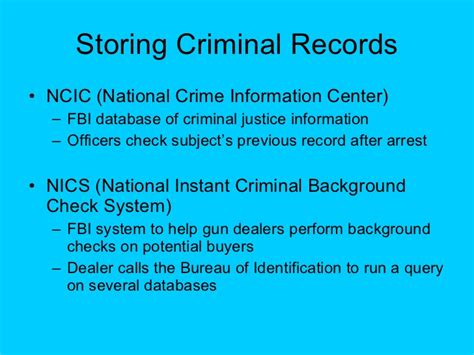 Fbi Arrest Records National Crime Information Center Ncic Fbi Information