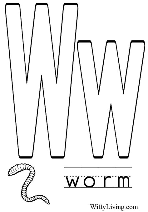 Letter W Coloring Pages Printable letter w coloring pages to and print for free