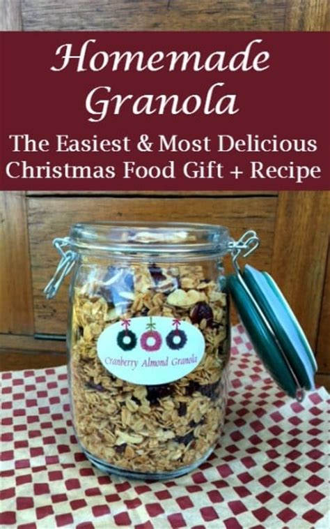 granola the easiest and most delicious christmas food gift