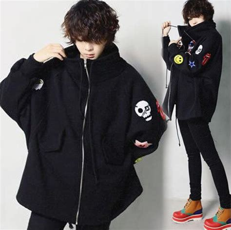 Jaket Sweater Hoodie Zipper Big Size new arrival korean style plus size hoodies badges embroidered zipper jacket big turn