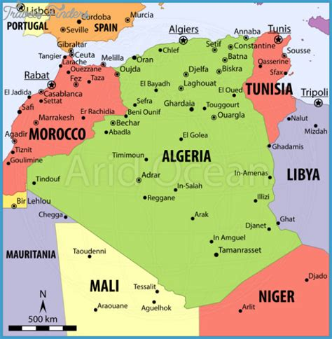 map of algeria cities algeria metro map travelsfinders