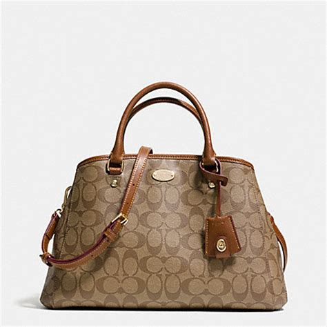 Coach Margot Small Sign Saddle 3 small margot carryall in signature canvas f34608 light