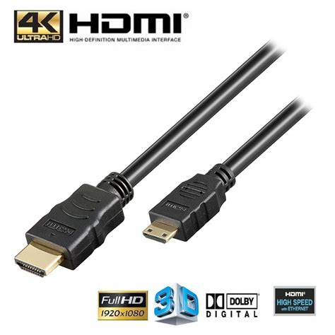 high speed hdmi mini hdmi kabel 3m