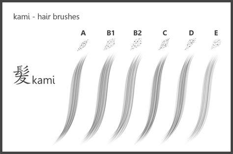 sketchbook pro brushes kami hair brushes for sketchbook pro by dev moon on