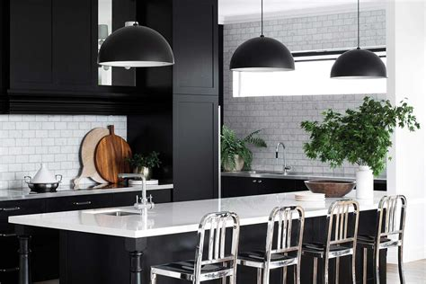and black kitchen ideas 2018 7 awesome ideas for a black and white kitchen home beautiful magazine australia