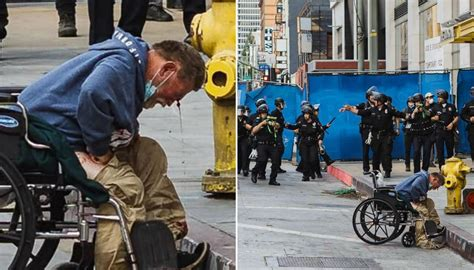 los angeles police shoot homeless man  wheelchair