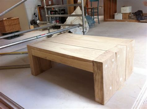 Railway Sleeper Coffee Table by A Simple Coffee Table Made From New Oak Railway Sleepers