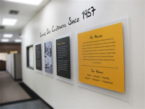 office wall design custom design corporate history wall for caterpillar