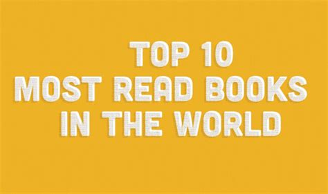 Best Book In The World by Top 10 Most Read Books In The World Infographic Visualistan