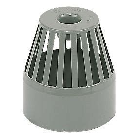 Svp Plumbing by Floplast Sp302g End Vent Terminal Grey Soil Pipe